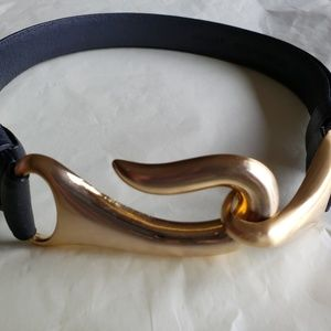 Chico's Black Leather Belt